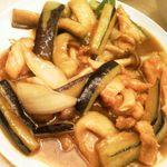 Koushouki - 鶏肉とナスのカレー風味炒め