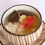 美菜ガルテンふるかわ - きのこ茶碗蒸し(ランチコースメニュー)