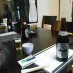 旬彩茶屋夢花 - 瓶ビール キリンかアサヒ選択でアサヒスーパードライ