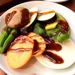 八芳亭 - 野菜焼き、500円。