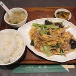 中華料理 翠珍 - 豚肉ときくらげの卵炒め