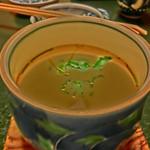 末廣鮨 - (アートモードですいません)鮑や松茸などが入ったご馳走茶碗蒸しです。