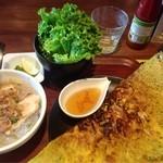 バインセオ サイゴン 新宿店 - 海老と豚肉のバインセオランチ@1,000