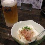 なっちゃん - 料理写真:生ビール・冷や奴