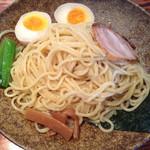 はぐるま - 2013.11.22 はぐるま 牡蠣の柚子塩つけ麺 麺