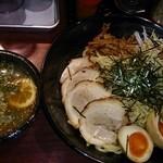 22645843 - KAZUYA特製つけ麺大盛 クーボンで味玉