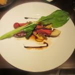 コウジイガラシ オゥレギューム - エゾ鹿のロースト カラフルな根菜と