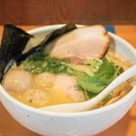 らーめん銀杏 - 2013.11 鶏SOBA塩(700円)+トッピング全部のせ(300円)+大盛(100円)