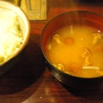 Arahata - 定食の味噌汁とごはん