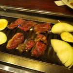 Arahata - 定食のカルビとハラミ