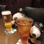 オカモト - まずはビールとウーロン茶で乾杯~!!