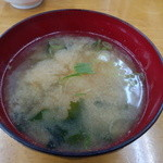 22651423 - 豚生姜焼き定食のあら汁