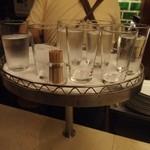 インデアンカレー - 水が置いてある台が面白い