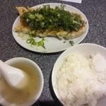 餃子屋 じなんぼ - 「ねぎ味噌餃子定食(750円)」