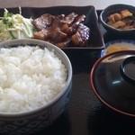 定食屋菜 - 本日の日替わり、トンテキ定食!