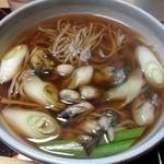 鮨の安さん - 冬季限定の牡蠣そば1
