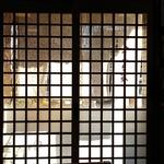なみき庵 - 店内からの入り口の風景。