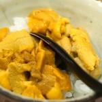 鮨処 多田 - 雲丹の食べ比べ