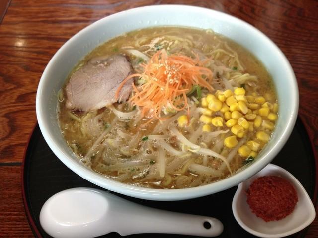味美 藤田屋 湯沢店 - 細麺大盛。麺増やしたら、スープも増やさんと。センスの問題。