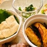 トーフカフェおおはたや - 日替わりランチ@小鉢類