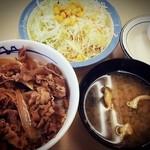 22662350 - 牛めし+生野菜セット