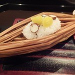 壽山 - 2013/11 鮑 銀杏 むかご飯蒸し
