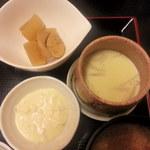 喜久屋 - 小鉢・茶わん蒸し・タルタルソース