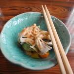 島田屋 - おとおし きゅうり 鶏胸肉 ごまソース