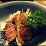 今昔亭 - フランス産鴨のくわ焼き。これも良いアテです。