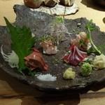 鶏屋ぜんろく - 白肝入り おまかせ5種盛り1500円