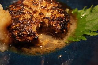 TAKASEGAWA - タカセガワのやんばる島豚、手作りハンバーグおろしポン酢、肉汁!