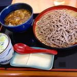 22679983 - そば屋のカレー丼とそばのセット(¥ 640)