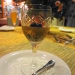 ルピュイグルモンカマクラ - 蟹・あおさ・花びら茸のコンソメ寄せ キャビアのせ