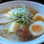 ダボハウス - 梅塩バターらー麺 ☆ バターのコク エビ香る! ☆