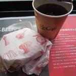 マクドナルド - トーストと珈琲(S)で200円