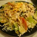 筑前屋 - 蒸し鶏明太サラダ