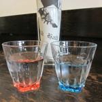 ミルクホール - お冷のグラス