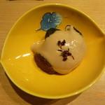 22691009 - 茄子と椎茸の胡麻酢かけ