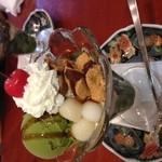 麻布茶房 - 抹茶わらびもちパフェ