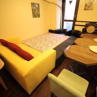 子供・ベビーにも対応可能なカラオケ付部屋あり。