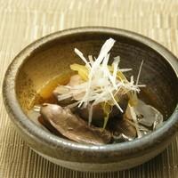 まーさん酒場 - 冷製鶏レバの生姜煮