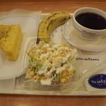 ヴィ・ド・フランス - 「クロックムッシュ(ハムチーズ)モーニング」+サラダ=399円