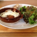 エル.エス カフェ - 有機野菜とソーセージの焼きカレー