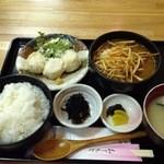 つくしんぼ - チキンカレーと蒸し海老焼売 800円