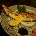 割烹 松楽 - 秋刀魚鹽燒き