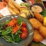 かに通 - セット:天ぷら・コロッケ盛合