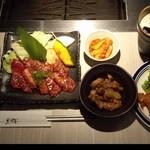 薩摩焼肉 黒桜 - 『鹿児島黒牛カルビセット』(1280円)と『日替わり 黒桜ビュッフェ』(300円)~♪(^o^)丿