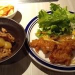 薩摩焼肉 黒桜 - 『鹿児島牛 牛すじと大根の煮込み』と『鶏肉料理』『カボチャのサラダ』~♪(^o^)丿