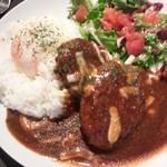 Cafe de 武 - ハンバーグのランチ。