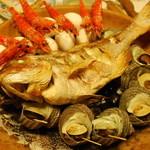 民宿 名駒 - 料理写真:海賊焼き